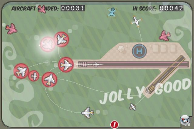 <b>Bester Fingerverknoter: Flight Control</b><br><br>Das Grundprinzip klingt simpel: Bringe als Fluglotse Segler, Jets, Hubschrauber und Passagiermaschinen geordnet und ordentlich auf die entsprechenden Landebahnen. Wenn gerade mal zwei, drei davon im Bild sind, ist das auch kein Problem. Aber wenn zehn oder mehr in unterschiedlichen Geschwindigkeiten den Touchscreen bevölkern, bricht schnell von immer hysterischer werdendem Kreischen begleitetes Chaos aus.<br><br>Ebenfalls empfehlenswert: Airport Mania, Tiki Towers<br><br> 1950708