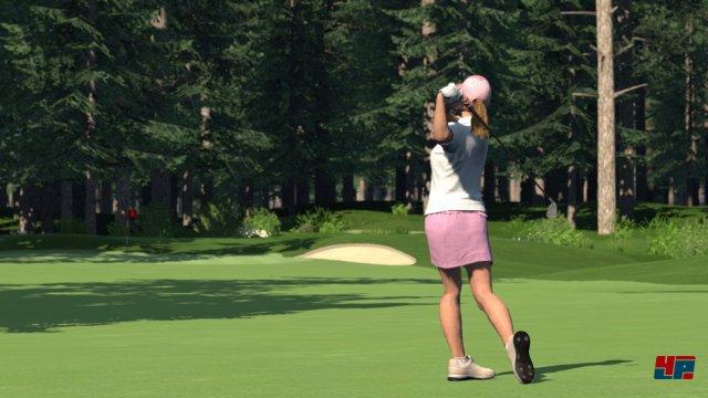 Für die Geschlechter-Debatte: Ja, es gibt auch weibliche Golfer-Modelle.