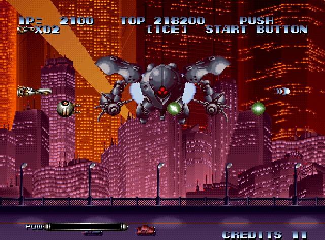 Last Resort<br><br>Das Neo Geo trug nicht umsonst den Beinamen »Home Arcade« - nicht nur waren die Spiele pixelperfekte Arcade-Umsetzungen, auch war das System samt der Games so ausufernd teuer wie ein ordentlicher Spielhallen-Besuch. Last Resort war zumindest in einer Hinsicht eine Ausnahme: Es war keine Umsetzung, sondern eine Neo-Geo-eigene Marke. Schweineteuer war's trotzdem. Und höllenschwer! Also, so richtig, RICHTIG schwer! Außerdem war der erste Level eine clevere Hommage an den Anime-Klassiker Akira. 1714984
