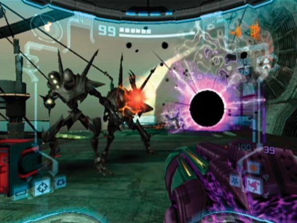 Metroid Prime 2: Echoes<br><br>Der direkt Nachfolger von Metroid Prime spielt zeitlich nach Metroid Prime: Hunters, das aber erst später erschien - auch hier bewiesen die Designer ihr ungeschlagenes Geschick für verknotete Erzählweise. Jedenfalls gab es 2004 mehr Adventure als je zuvor, für so manchen etwas zu viel sogar - das ständige Scannen war dezent überstrapaziert, auch der oft benötigte Wechsel zwischen heller und dunkler Welt war etwas zu gut gemeint. Aber keine Bange, Freunde nervöser Abzugsfinger, es gab auch genug zu ballern, z.B. auf die Endgegnerin Dark Samus - wer das Spiel zu 100% absolvierte, bekam eine ganz spezielle Endsequenz zu sehen, die den Weg für Metroid Prime 3 ebnete. Außerdem durften bis zu vier Raumhelden und -heldinnen gegeneinander antreten, leider nur am Splitscreen. Und auch nur, wenn sie einen 60Hz-tauglichen Fernseher hatten, denn unter PAL-Norm (50Hz) lief und läuft das Spiel nicht. 1720806