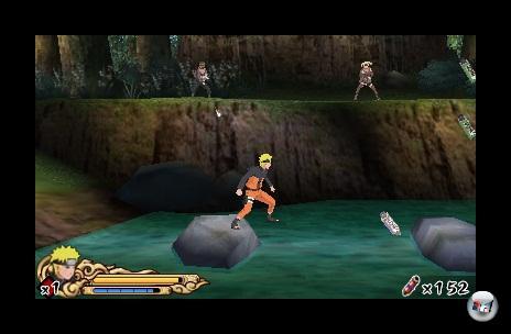 Naruto hüpft und kämpft sich immer wieder durch dieselben acht Levels.
