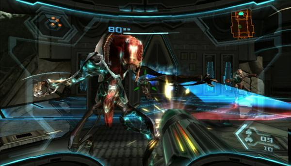 Metroid Prime 3<br><br>Der jüngste Neuzugang zur Metroid-Familie schlägt bei uns offiziell erst am 26. Oktober auf - und ist damit noch so frisch, dass es reicht, wenn man Jörgs Testfazit zitiert, um die Qualität zu beschreiben: <i>»Ich will hier nicht zu viel Pathos beschwören, aber die Retro Studios haben sich mit dem Abschluss der Trilogie nicht nur unsere höchste Auszeichnung verdient, sondern allen Unkenrufen zum Trotz gleich zwei Dinge bewiesen: Erstens, dass man schnelle Action auch mit Remote und Nunchuk hervorragend inszenieren kann. Freut euch auf eine Steuerung, die in Sachen Komfort und Präzision alles schlägt, was ich bisher auf dem Wii spielen konnte. Zweitens, dass Spiele auch ohne HD- und 1080p-Schnickschnack nicht nur möglich sind, sondern richtig klasse aussehen und begeistern können. Hier taucht man ein und will gar nicht mehr auftauchen. Auch wenn es unheimlich schade ist, dass Samus nicht online auf die Jagd geht: Ihr findet derzeit nichts Schöneres, Spannenderes und Unterhaltsameres - genau diese Art epische Abenteuer braucht der Wii!«</i> 1720809