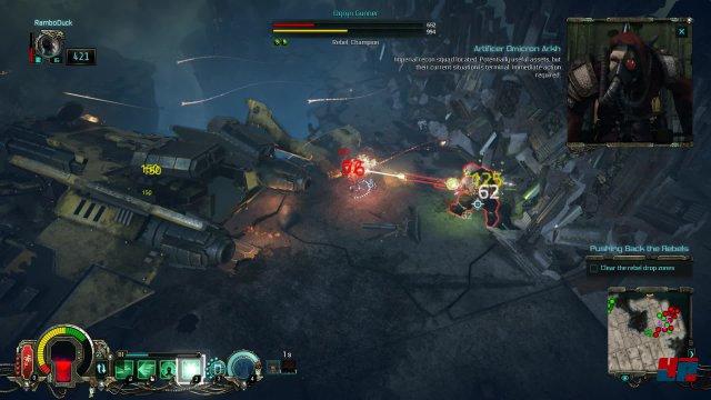 Die Jagd auf Ketzer im Universum von Warhammer 40K wird als schnörkelloses Action-Rollenspiel inszeniert.