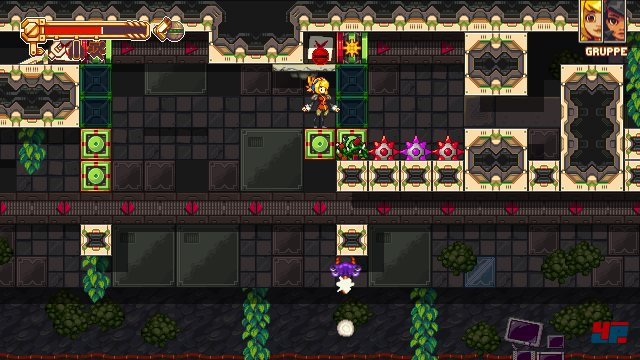 Schalter, Bomben, bewegliche Plattformen: Die Rätsel erinnern ein wenig an Titel wie Mighty Switch Force von WayForward. Früher arbeitete Sandberg übrigens auch für das Entwicklerstudio.