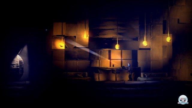 Die düstere Atmosphäre von The Swapper wird durch die tolle Kulisse sehr gut transportiert.