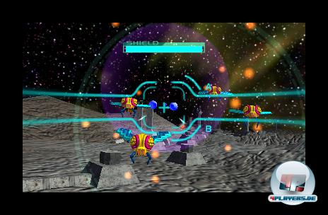 Galaga: 3D Impact verlagert das Insektenvernichter-Spielprinzip in die dritte Dimension - ein solider Arcade-Spaß.