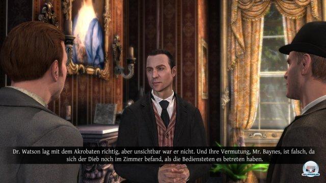 Die Hotspot-Anzeige wird mit Holmes' sechstem Sinn verknüpft: Man darf nur ab und zu die Hotspots anzeigen lassen. Darüberhinaus gibt es keine Hilfe.