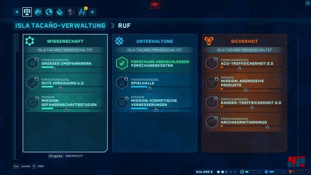 Je nach Fraktion und Ruf werden durch die Missionen neue Gebäude, Modifikationen oder Dinos freigeschaltet.