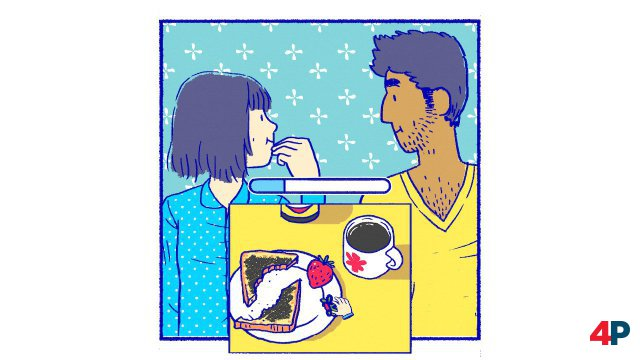 Zu zweit ist für Florence alles bunter - sogar ein schnödes Frühstück.