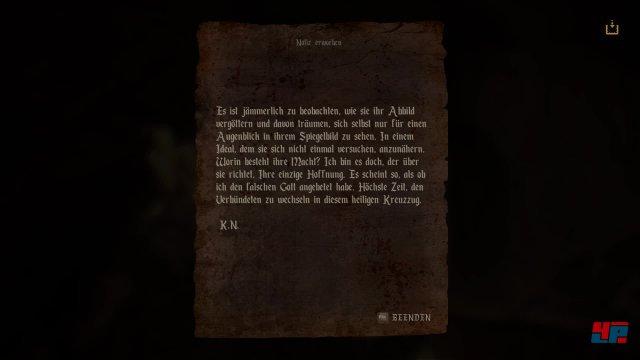 Notizen und Briefe sind ebenfalls ein probates Mittel, um die Geschichte voranzutreiben.