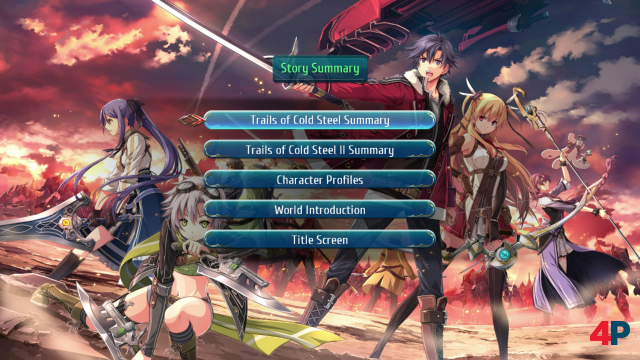 Praktische Einstiegshilfe: Im Backstory-Menü kann man sich über Schauplätze, Charaktere und Ereignisse der beiden nicht auf Switch erschienenen Vorgänger detailliert informieren.