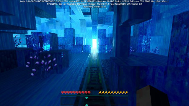 In der Minecraft-Welt Portal Pioneers gibt es eine Benchmark-Möglichkeit.