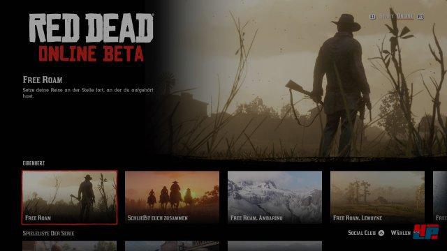 In der Beta könnt ihr diverse Szenarien bzw. Startpunkte wählen oder frei erkunden.