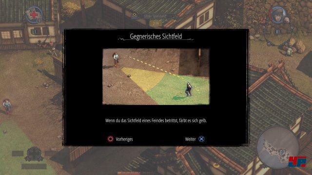 Ähnlich wie auf dem Rechner informieren Tutorials über die Spielmechaniken.