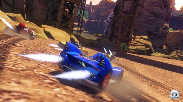 Turbo-Boosts gibt es nach erfolgreichen Stunts oder langen Drift-Einlagen.