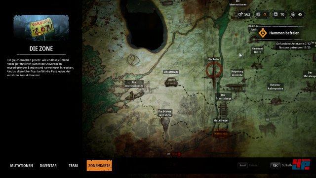 Die Karte der Spielwelt.