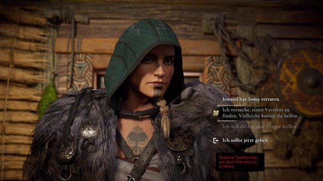 Wer in der Spielwelt die Einladungen zum Spottstreiten annimmt, freut sich in manchen Dialogen über zusätzliche Optionen.