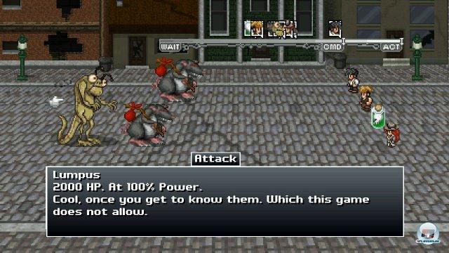 Das Kampfsystem ist einfach, aber interessant; das Reihenfolge-System und die verschiedenen Klassen bringen Tiefe ins Spiel.