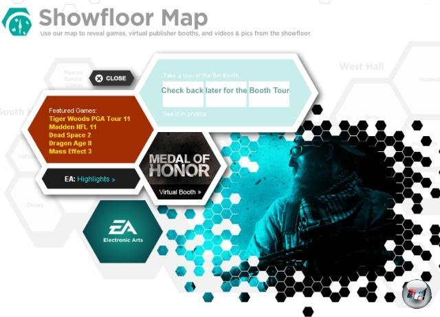 <b>Dragon Age 2 & Mass Effect 3</b><br><br> Wunschdenken oder verfrüht herausposauntes Insiderwissen? Gamespot hat auf seiner interaktiven E3-Übersichtskarte bei Electronic Arts die beiden Einträge »Dragon Age 2« und »Mass Effect 3« - von denen keines von EA angekündigt wurden. Mal sehen, mal sehen... 2102908