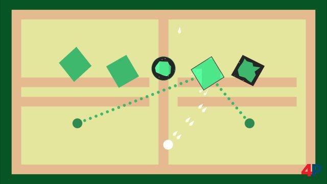 Starke Idee: Feuert man auf einen Feind, entstehen zwei zusätzliche grüne tödliche Linien - hier Taktik gefragt.