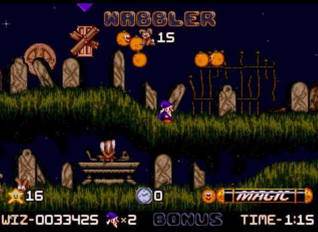 Wiz n Liz (1993) <br><br> Als Raising Hell Software entwickelten die Mannen um Martyn Chudley außerdem noch dieses süße Jump n Run für den Amiga und das Mega Drive, das fast ohne Gewalt und Gegner auskam. Stattdessen ging es darum, in den acht Welten die so genannten