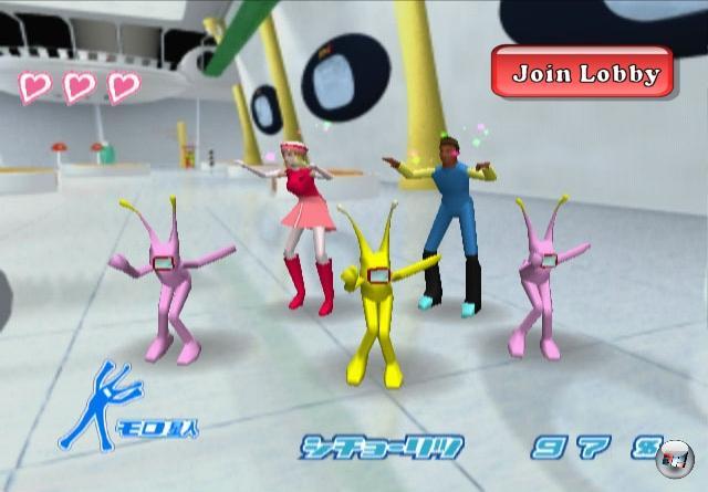 <b>Space Channel 5:</b><br><br>Alle tanzen! Und zwar die ganze Zeit. Das geht doch mit Sicherheit auch online! Wir präsentieren: World of Space Channel 5 - das MMODSG (Massively Multiplayer Online Dancing Simulation Game). Mit kabelloser Tanzmatte vor jeder Konsole. 1869288