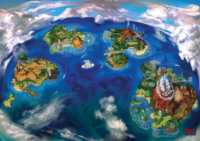 Alola besteht aus vier Inseln, die es auf der Inselwanderschaft zu erkunden gilt.