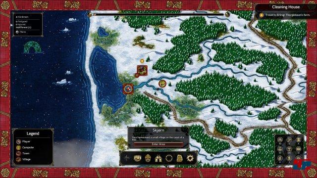 Das Abenteuer beginnt im jütischen Dänemark: Als Nachfolger eines Clans hat man es zunächst schwer.
