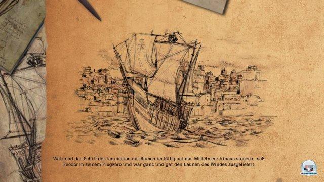 Die Geschichte wird in schlicht gehaltenen Zeichnungen weitererzählt.