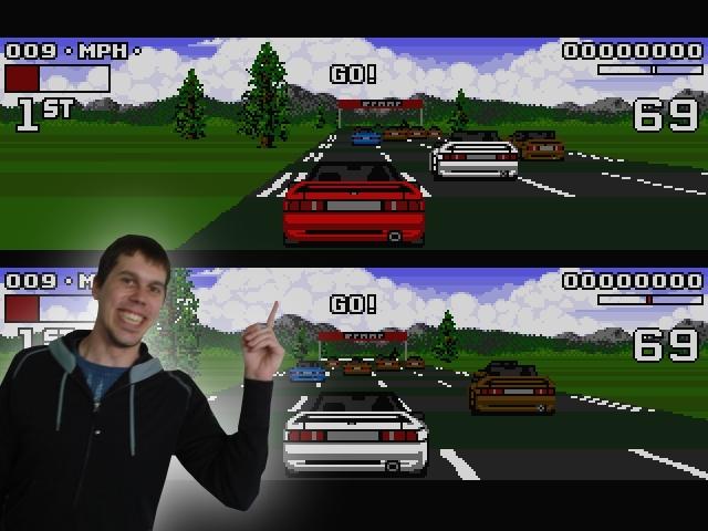 <b>Krosta sagt: Augenblick mal, bitte! </b><br><br>1990 war auch das Jahr der Lotus Turbo Challenge: Coole, richtig, <i>richtig</i> schnelle Grafik, einfache Steuerung, Riesenspaß! Ganz zu schweigen von dem zweiten Teil, der alles nochmal besser und großartiger machte - und der brillante Titelsong erst... 1797468