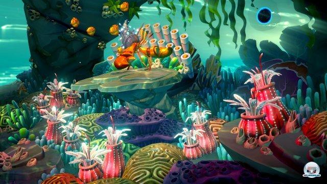 Eine Unterwasserwelt erkunden und als Dirigent Welten retten - interessantes Spielkonzept.
