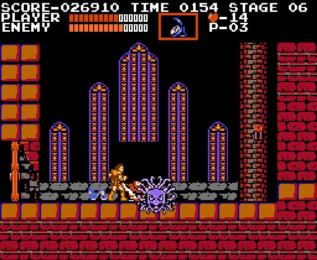 Wie so vieles beginnt auch Castlevania als ein Haufen düsterer Pixel: Am 26. September 1986 erscheint Akumajo Dorakyura (einfach übersetzt »Draculas teuflisches Schloss«) auf Nintendos Family Computer Disk System und gewinnt eine durchaus beachtenswerte Zahl von Fans. Der richtige Durchbruch erfolgt allerdings erst ein Jahr später, als die Umsetzung für das weitaus populärere NES erscheint. 2164273