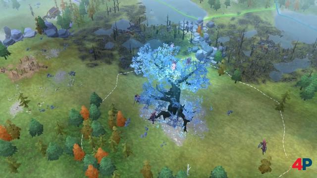 Auf jeder Karte gibt einen speziellen Sektor mit Siegbedingungen. Übrigens: Auf der Switch-Version fehlen weitgehend die Schatten der Gebäude, Figuren und Bäume.