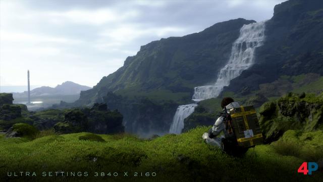 """Wasserfall-Szene aus dem Prolog in 4K mit """"Maximaler"""" Qualität."""