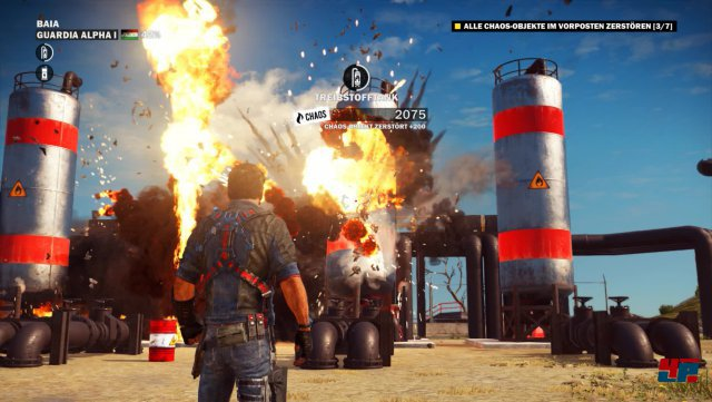 Die Explosionen mit all ihren Effekten sind das Prunkstück von Just Cause 3.