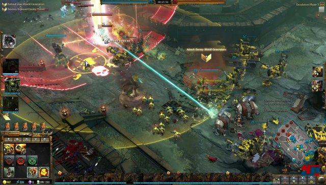 Im Mehrspieler-Modus müssen zunächst die Schildgeneratoren ausgeschaltet werden.