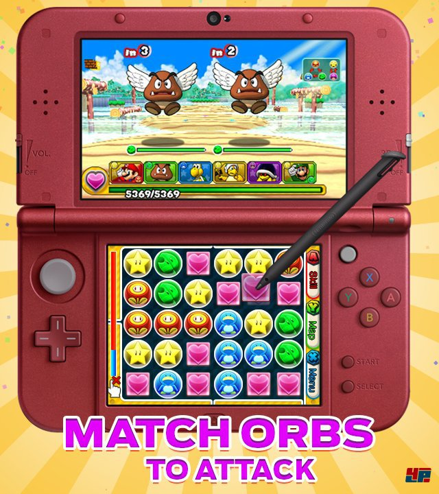Screenshot - Puzzle & Dragons Z   Puzzle & Dragons Super Mario Bros. Edition (3DS)