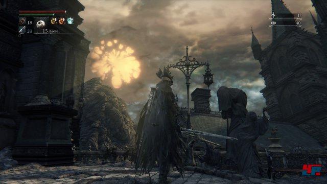 In der Ferne sind die seltsamen Wurzeln erste Anzeichen für Änderungen...Screenshot - Bloodborne (PlayStation4)