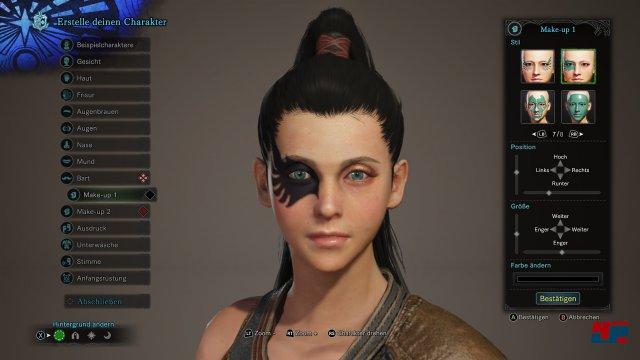 Per Charaktereditor erstellt man sich seine wahlweise männliche oder weibliche Spielfigur.