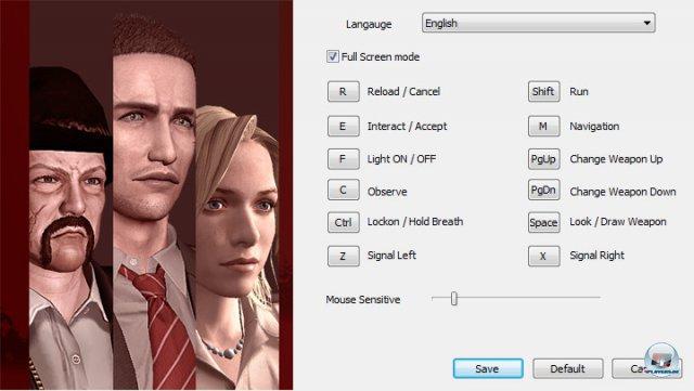 Das Optionsmenü am PC. Im Spiel kann man noch kleine Änderungen wie das Umkehren der Kamerabewegung vornehmen, wichtige grafische Einstellungen fehlen aber.