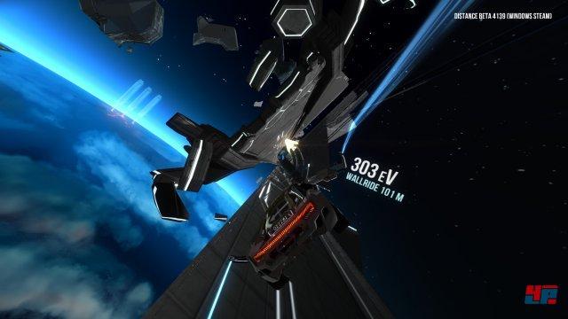 """Größer, besser, bunter: Distance ist der mit Kickstarter und Early-Access finanzierte Nachfolger zum Indie-Experiment """"Nitronic Rush""""."""