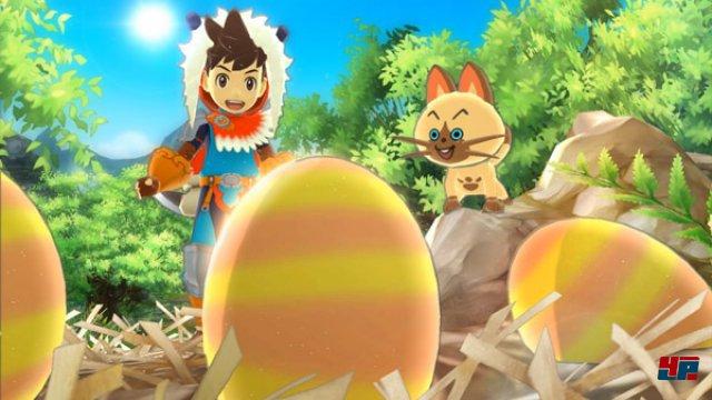 Um eigene Monster zu züchten, müssen zunächst passende Eier erbeutet werden.