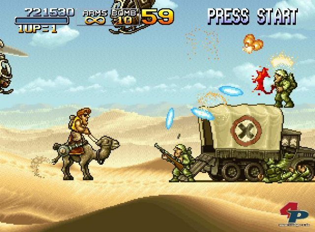 In der Wüste bekämpft ihr eure Gegner standesgemäß vom Kamel aus.