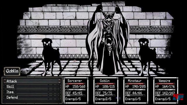 Die halten meine Gruppe nicht auf! In diesem Dungeon-Crawler muss man mit seiner Vierergruppe aus einem Labyrinth fliehen.