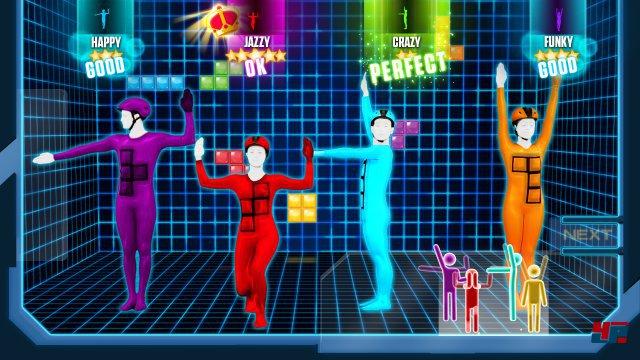 """Auch das """"Tetris""""-Thema gehört zu den über 40 Songs, zu denen man tanzen darf."""