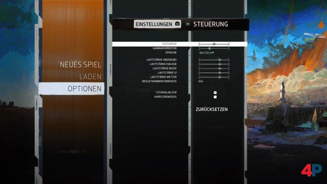 Sehr schön: Man kann die deutschen Texte auch vergrößern.