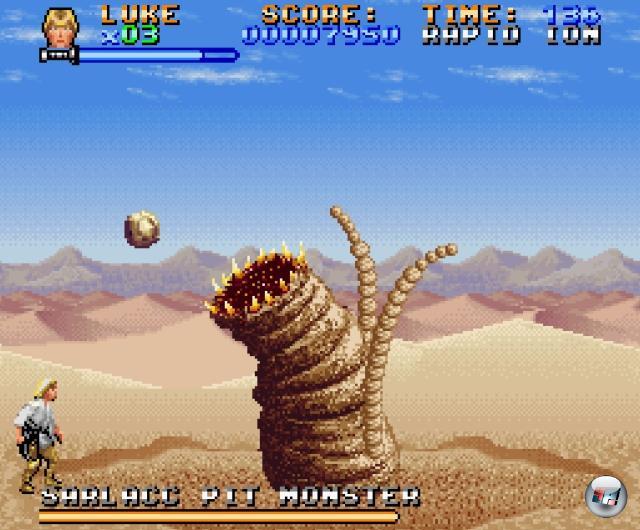 <b>Super Star Wars-Reihe</b><br><br>Das SNES konnte zwei Dinge richtig gut: 2D-Parallax-Scrolling und Mode 7-Effekte. Auftrtt Super Star Wars, das beides nicht nur wunderbar vereinte, sondern auch noch ein toll designtes, herrlich fieses Jump-n-Run drumherum bastelte - das für die damalige Zeit aufregende Fahr- und Flug-Sequenzen via Mode 7 bot. Luke Skywalker, Han Solo und Chewbacca waren im ersten Spiel steuerbar, in den beiden Nachfolgern (von denen der letzte, wie auch der dazu gehörige Film, der schwächste war) kamen noch Prinzessin Leia sowie Nerv-Ewok Wicket dazu. 1855213