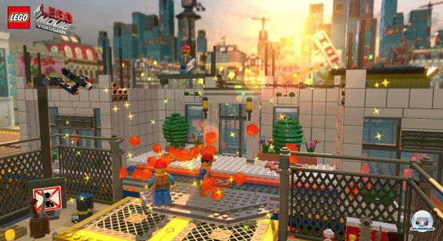 Zurück zum Bauklotz: In The Lego Movie Videogame werden sämtliche Level-Strukturen aus Bauklötzen zusammengesetzt.