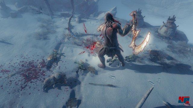In den Schneegebieten lauern nicht nur riesige Trolle, sondern auch Eiseskälte, an der man erfrieren kann.