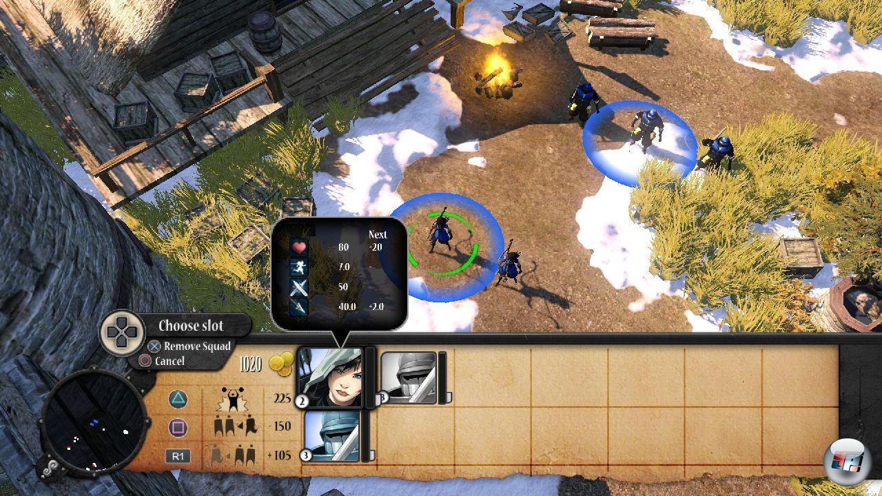 Vor Beginn einer Mission wählt man die Startplätze seiner Truppen.